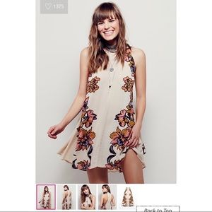 Free People Lace-up Dide Dress (floral; tassels)